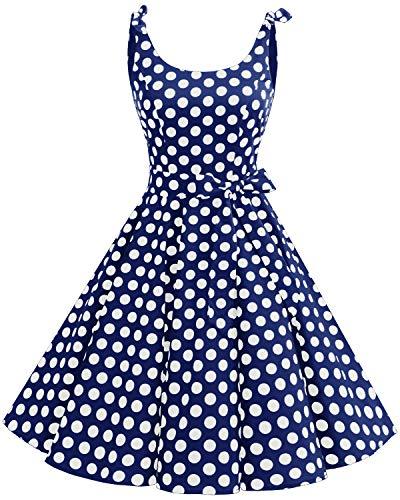Bbonlinedress 50er Rockabilly Kleid Polka Dots
