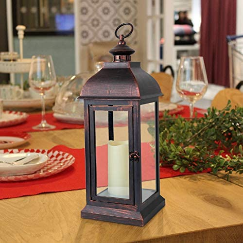 Nattork Decorative Candle Lantern with Timer Flameless Candle for 16 H Outdoor and Indoor Hanging product image