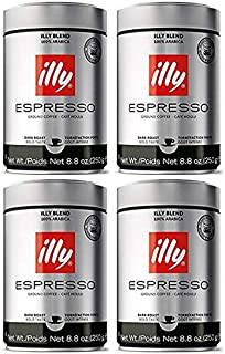 Ground Espresso Dark Roast Coffee, 8.8 Oz (Pack of 4)