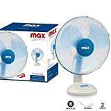 Bakaji - Ventilatore da Tavolo Oscillante Pala 40cm 3 Velocità, Oscillazione Orizzontale, Inclinazione...