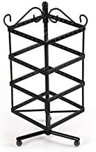 Jewelry Stand Iron 128 Hole Square Earrings Jewelry Display Stand Display Stand Jewelry Creative Rotatable Earring Holder ...