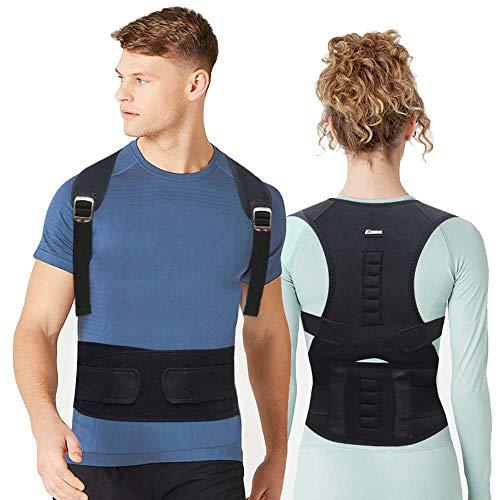 Back Brace Posture Corrector for Men - Posture Corrector for Women - Upper Back Posture Corrector Providing Lumbar Support - Adjustable Back Brace Back Straightener for Clavicle Support Back Pain Reli