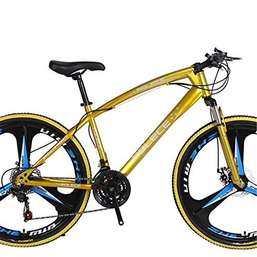 Shamdon Home Collection Mountain Bike Road Bikes,New Python shaped,26 Inch,One Wheel Double Disc Brake Gift Car Export Car,Aluminum Alloy Material,SSS-level shock absorption,7-21 Speeds Options,Yellow