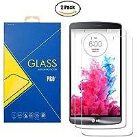 [2 Pack] Protector Cristal Vidrio Templado LG G3 D855 – Pantalla Antigolpes y Resistente al Rayado