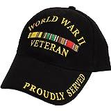 FindingKing World War II Veteran Proudly Served Hat Black