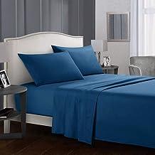 UKUCI Effen kleur Bed laken sets Flat Sheet+Hoeslaken+Kussensloop Queen/King Size 15 Kleuren Zachte comfortabele Beddengoe...