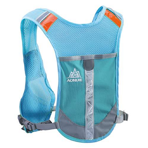Azarxis Mochila de Hidratación Reflectante Ligero Chaleco de Running para Ciclismo Correr Senderismo Unisex (Azul)