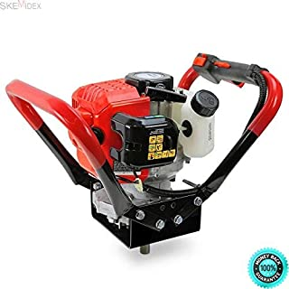 COLIBROX---Post Hole Digger Lowes Post Hole Digger Home Depot Post Hole Digger Rental Post Hole Digger Tractor Supply and 2.3HP 55cc Gas Post Earth ice Dirt Hole Auger Digger Borer 2 Auger bits 4