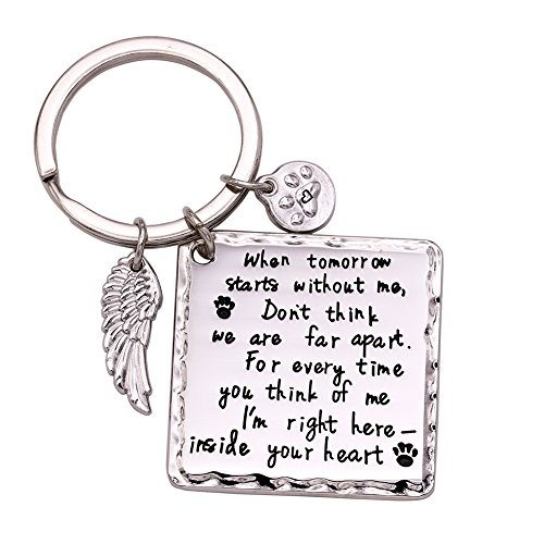 Melix Home Cat Dog Memorial Gifts Keychain Loss of Dog Gifts Pet Sympathy Gifts For Dogs Jewelry