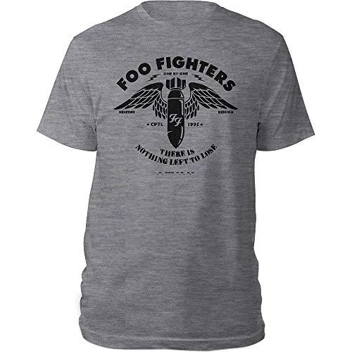 Foo Fighters FOOTS05MG01 - Maglietta da Uomo, Taglia S, Colore: Grigio