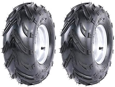 WPHMOTO 2PCS 16X8 7 ATV Tire and Rim Tubeless Front or Rear Tires with Rims for Go Kart UTV product image