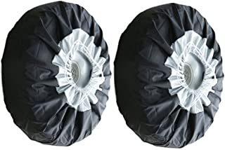 OIVLA Couvre Pneu De Secours Spare Tire Cover Waterproof Universal Spare Wheel Tire Cover Fit for Jeep Trailer RV SUV and Many Vehicle Size 14-17 Cat Ying Yang