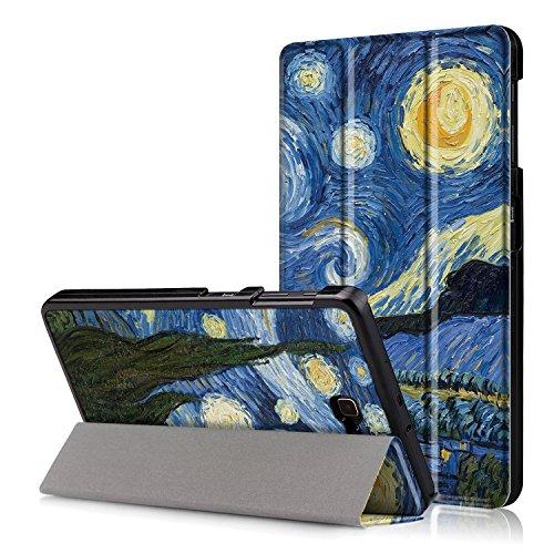 XITODA Custodia Galaxy Tab A6 10.1 - PU Pelle Smart Case mit Stand & con Il Sonno/Sveglia la Funzione Cover per Samsung Galaxy Tab A 10,1 2016 SM-T585/T580 Tablet Custodia Protezione,Cielo Stellato