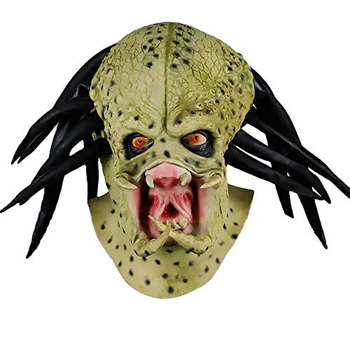 WEF Halloween Headgear Face Mask, Alien Mask, Predator Latex Headgear