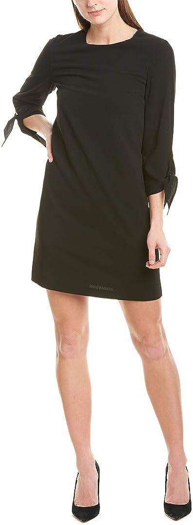 CeCe womens 3/4 Tie Sleeve Moss Crepe Shift Dress