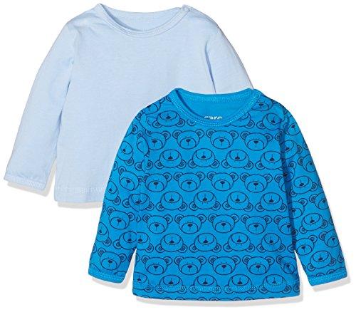 Brands 4 Kids A/S Care Anke1 Langarmshirts, Blau (Light Blue 700), 6 Monate/68 cm, 2er-Pack