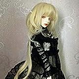 XTHY Peluca Cosplay Peluca de muñeca bjd Cabeza de Medusa Peluca de Flequillo Frontal Dorado De Cosplay Pelucas Anime Pelo