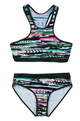 La-V Mädchen Bikini Zweiteilig Sport Multicolour/Größe 152/158