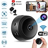 A9 HD 1080P WiFi IP Mini Camera Small Wireless Home Baby Night Vision Security Micro Motion Detection Hisilicon Hi3518EV200 Cam (Black)