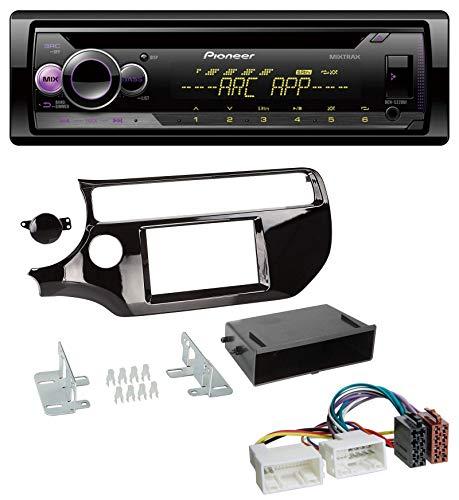caraudio24 Pioneer DEH-S220UI 1DIN MP3 AUX USB CD Autoradio für Kia Rio UB ab 2015 Piano-schwarz