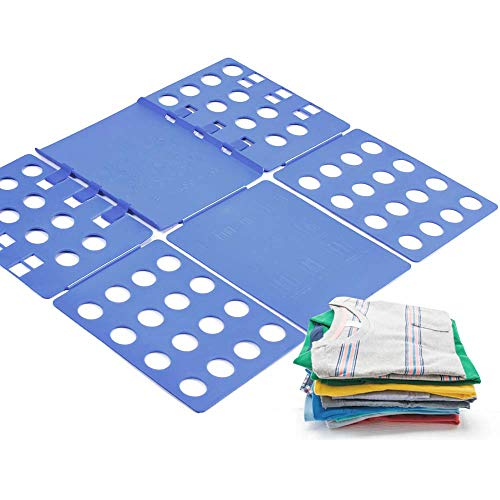 laundrytime V1 Tshirt Board t Shirt Folder Clothes flip fold Plastic flipfold Laundry Room Organizer, Blue B
