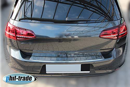 Recambo CT-LKS-2270 LADEKANTENSCHUTZ Edelstahl POLIERT für VW Golf 7 VII SCHRÄGHECK - MIT ABKANTUNG, Large
