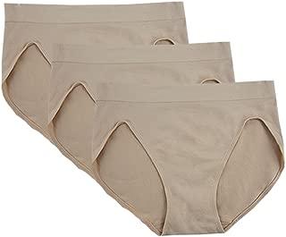 Women's Underwear Seamless Briefs High-Cut Panties - 3 Pack or 4 Pack