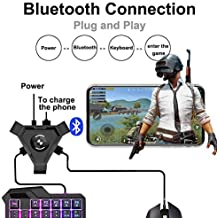 MeterMall Electronics PUBG Mobile Gamepad Controller Gaming Keyboard Mouse Converter for Android Phone to PC Bluetooth Adapter Android Apple Universal