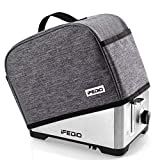 Toaster Cover 2 Slice with Pockets, Dust Protection/Stain Resistant/Washable/Appliance Toaster Machine Cover (Gray)