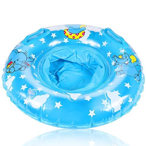 FGen Schwimmring Baby, Schwimmreifen für Babys, Elephant Schwimmsitz Baby, mit Sicherheitssitz, Geeignet für Babys 3-36 Monate Schwimmen Lernen, Schwimmtrainer Baby, Blau