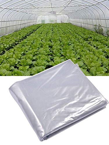 HTYG Garden Poly Tunnel-Heavy Duty Polythene Plastic Sheeting Garden DIY Material-Roof Panels Foil Hothouse for Planting Tomatoes Veg Fruit (No Frame Frame) (3x10 m)