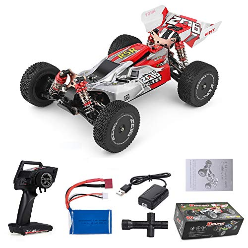 Goolsky Wltoys XKS 144001 RC Coche 60km / h Alta Velocidad 1/14 2.4GHz RC Buggy 4WD Racing Off-Road Drift Coche RTR (Rojo)