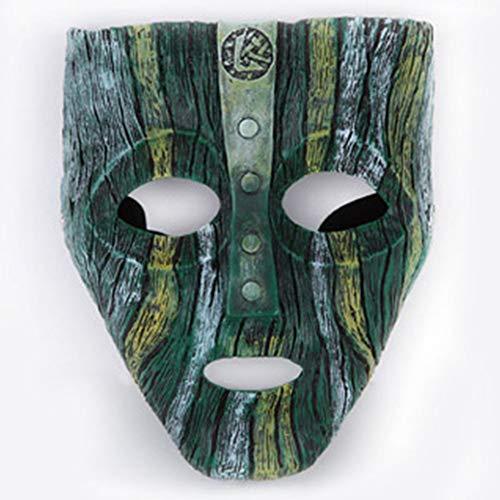 WLXW 2019 Máscara de Disfraces de Halloween Máscara de Fiesta de rol de Resina de Alto Grado Loki Reproducción de Accesorios de Películas, Vale la Pena Recoger
