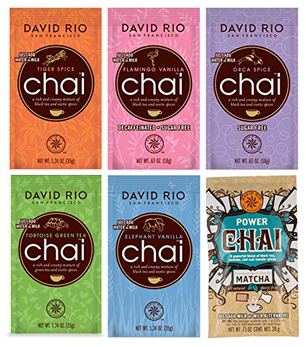 Probierpaket David Rio Chai Latte - 6 Sorten (6 Portionsbeutel, 161g)