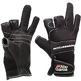 Abu Garcia Fishing Gloves 3 Half-Finger Breathable Anti-Slip Glove Neoprene (Medium)