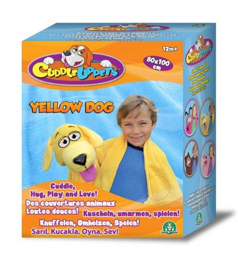 Giochi Preziosi 70856041 - Cuddleuppets Hund Kuscheldecke, gelb