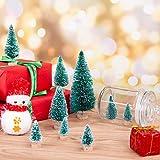 MELLIEX 60 Stück Miniatur Weihnachtsbaum Künstlicher Mini Modell Weihnachtsbaum Kunststoff Winter Ornamente für Tischdeko, DIY, Schaufenster - 5