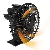 Stronrive Ventilador De Estufa De 5 Palas, Ventilador De Estufa De Calor para Estufa De Leña, Quemador De Leña, Ventilador Ecológico Circulación De Calor para Leña/leña/Chimenea
