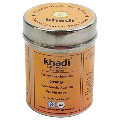 KHADI Mascarilla Facial - Naranja Para pieles mixtas, efecto rejuvenecedor - Estimula la...