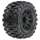 Pro-line Racing Badlands MX38 HP 3.8' Belted & Mounted Raid Tires, 8x32 17mm F/R, PRO1016610