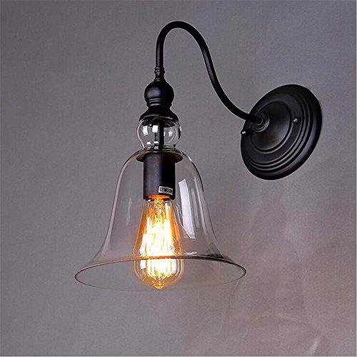 JJZHG wandlamp wandlamp waterdichte wandverlichting persoonlijkheid balkon nacht creatieve tuinverlichting vintage kristal klok wandlamp (B652) bevat: wandlamp, stoere wandlampen