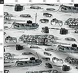 Toile De Jouy, Historisch, Städte, Illustration Stoffe -