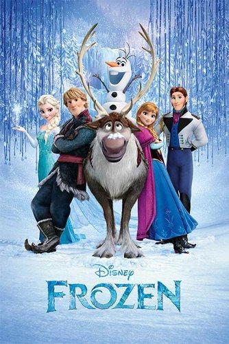 Frozen - Cast Disney Die Eiskönigin - Völlig unverfroren Poster Druck - Grösse 61x91,5 cm