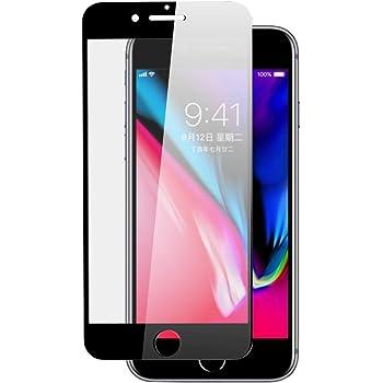 ARGOO Protector de Pantalla para iPhone SE 2020 iPhone 8 iPhone 7 Funda de Vidrio Templado Protector de Pantalla amigable Pedora para Pantalla Completa Protección de Borde a Borde de película (Negro)