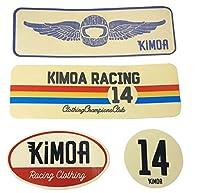 [ Kimoa ] キモア フェルナンド・アロンソ オフィシャル レーシング ステッカーセット 4枚組