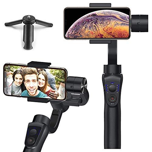 Noziroh Gimbal Estabilizador a 3 Ejes Original para Smartphone Samsung iPhone Huawei Xiaomi Android iOS Video Foto Profesional Time-Lapse Track Persecución Cara Panorama