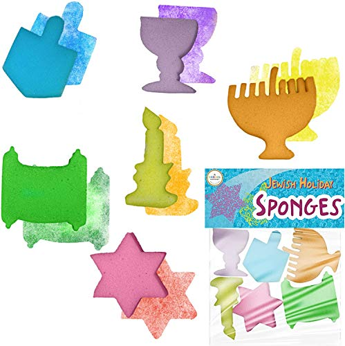 Jewish Holiday Sponge Shapes - Paint Fun Hanukkah Shapes - Fun for All Ages (2-Pack)