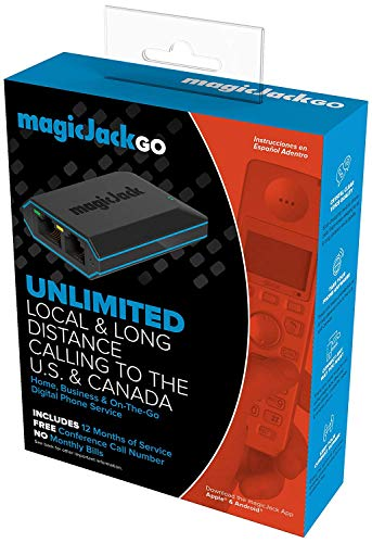 magicJackGO 2017 VOIP Phone Adapter Portable Home and OnTheGo Digital Phone Service Make Unlimited Local amp Long Distance Calls to The U S and Canada NO Monthly Bill 2017 1 Pack
