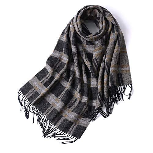 SUNHAO Écharpe Foulard à carreaux double face automne et en hiver pour hommes écharpe mode chaud de laine alpaga centaines