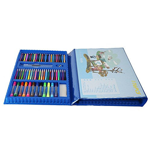 Tokyia Pluma de la Pintura del Color de Pintura Set 176 Piezas de Arte de Caballete de Pintura Infantil Suministros Suministros de Arte de Dibujo